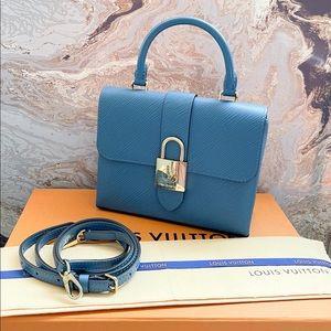 Louis Vuitton Locky BB Epi Blue Crossbody Bag